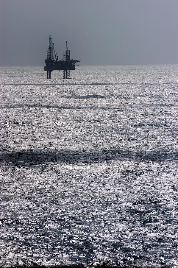 Equipment Photograph - Oil Platform by Arno Massee