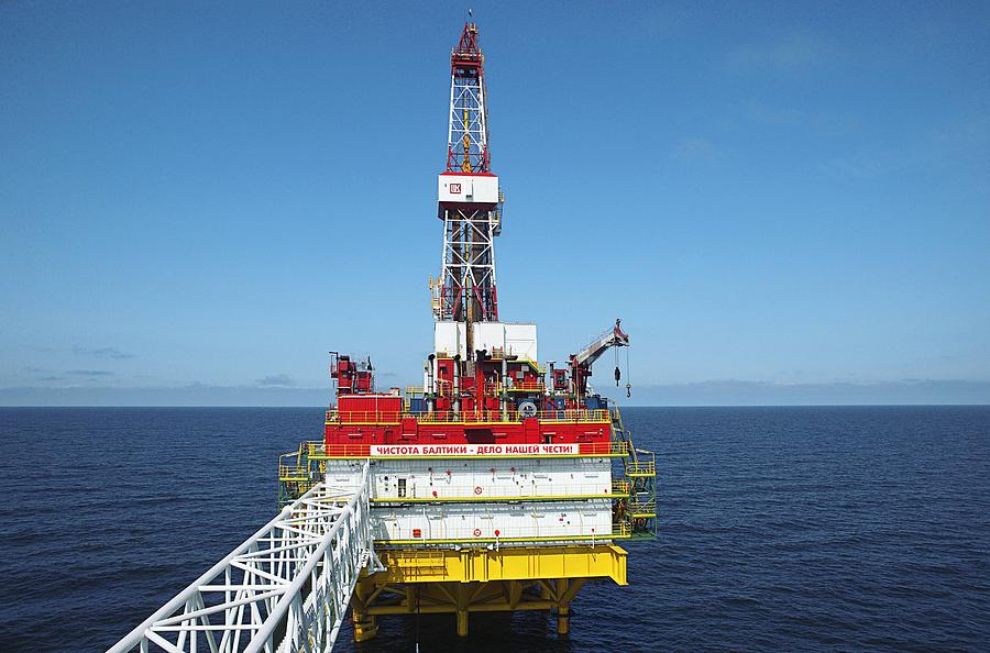 Oil Photograph - Oil Production Rig, Baltic Sea by Ria Novosti