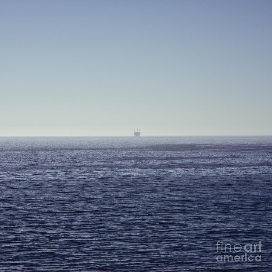 Ca Photograph - Oil Rig On Ocean by Eddy Joaquim