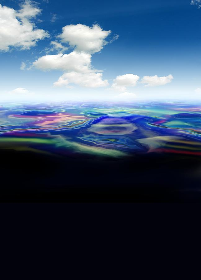 Illustration Photograph - Oil Spill, Artwork by Victor Habbick Visions