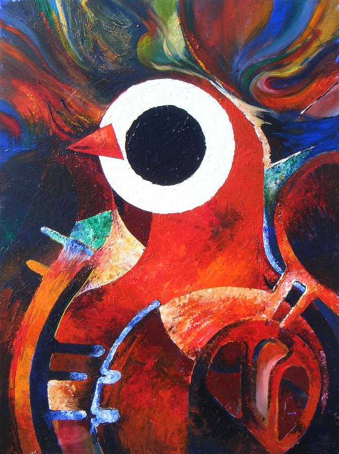 Oil Slick Painting - Oil Spill Gothic by Harold Bascom