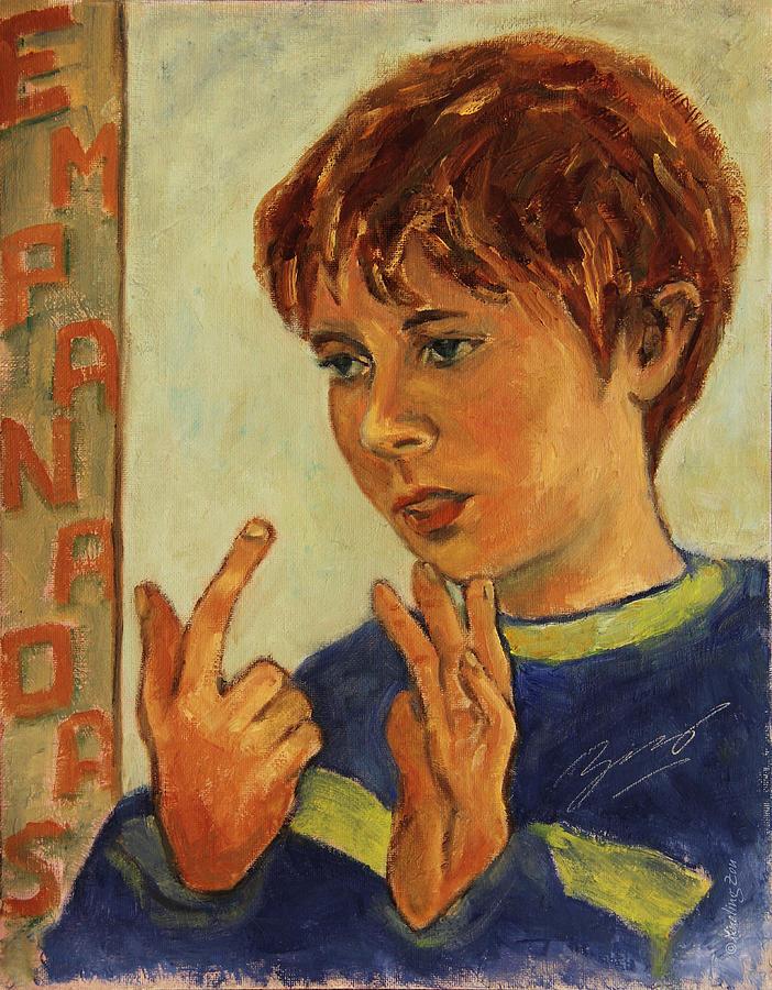 Boy Painting - Oilver Twist by Xueling Zou