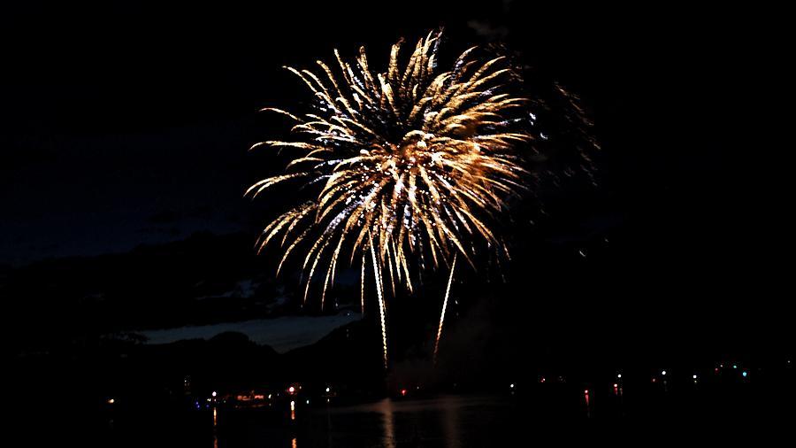 Fireworks Digital Art - Okanagan Starburst by Don Mann
