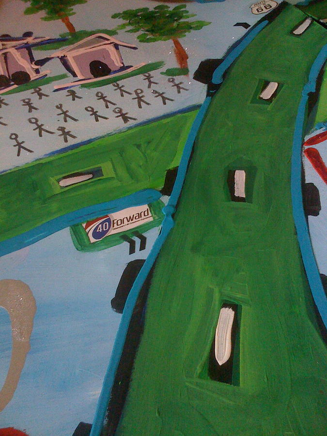 Oklahoma City I-40 Painting by Chi Kaplan