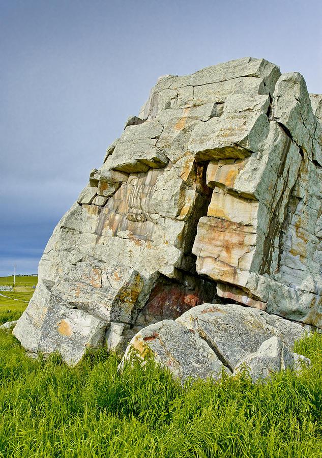 Alberta Photograph - Okotoks Erratic -  by Roderick Bley