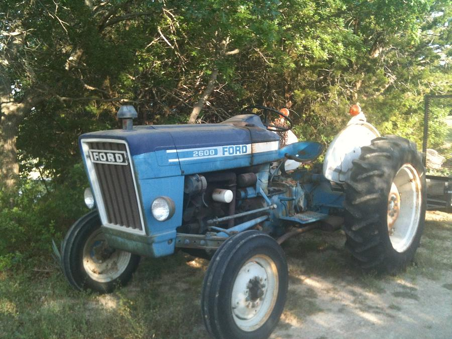 ol blue ford tractor photograph by shawn hughes