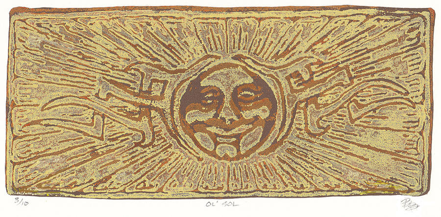 Sun Mixed Media - Ol Sol by Buck Buchheister
