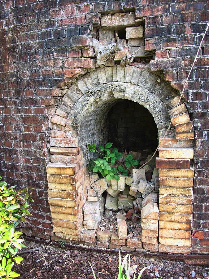 Brick Kiln Photograph - Old Antique Brick Kiln Fire Box by Kathy Clark