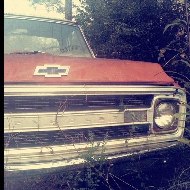 Antique Photograph - #old #antique #truck #chevrolet #car by Seth Stringer