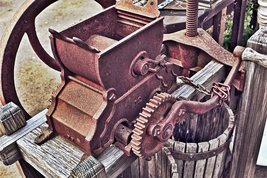 Apple Farm Photograph - Old Apple Press 3 by Bill Owen