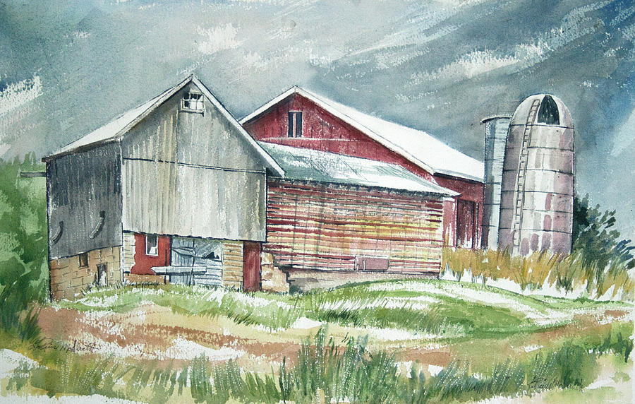 Painting Painting - Old Barn by Rose McIlrath
