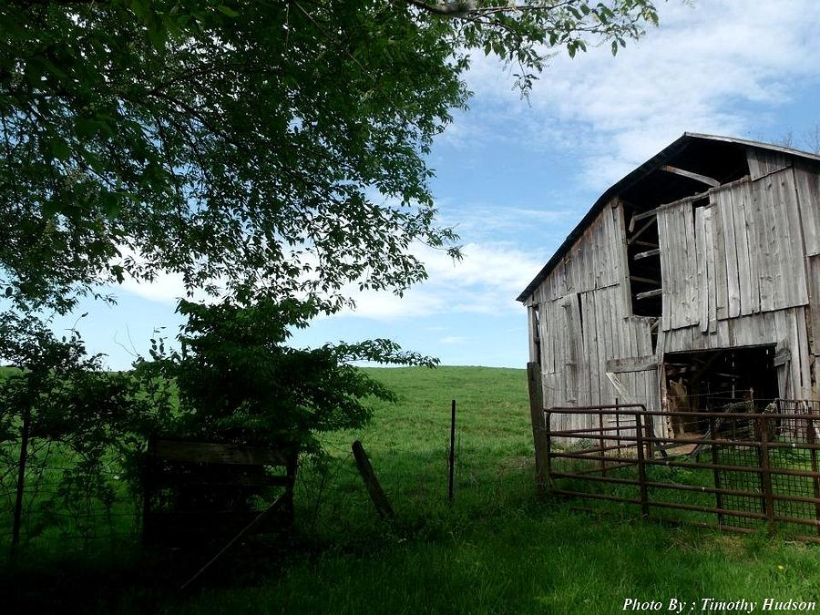 Old Barn With Beautiful Sky Photograph by Timothy Hudson
