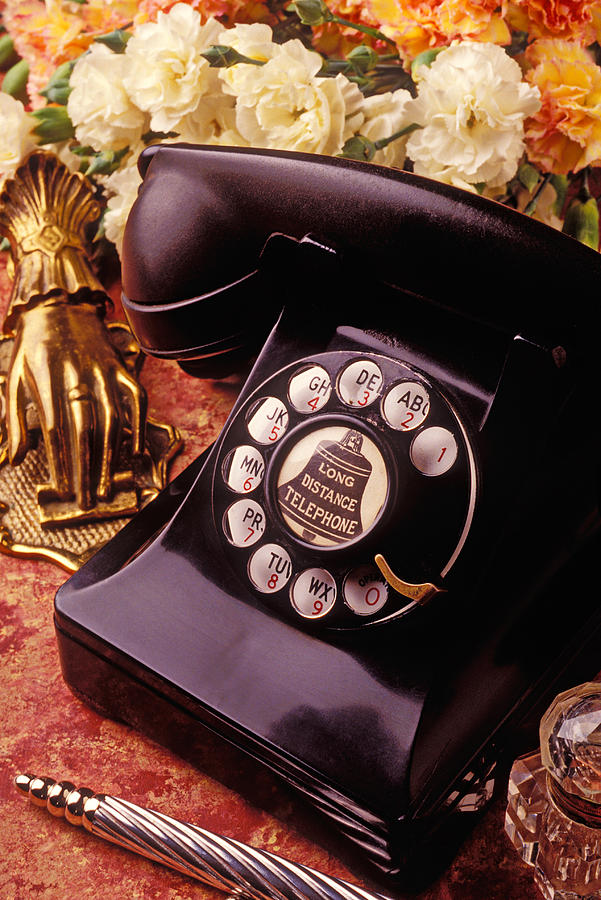 Phones Photograph - Old Bell Telephone by Garry Gay