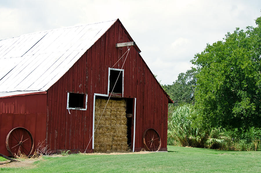 Old Photograph - Old Bonham Barn II by Lisa Moore