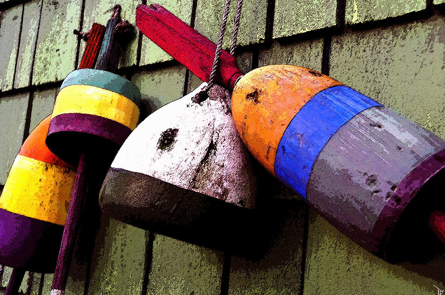 Art Painting - Old Bouys by David Lee Thompson