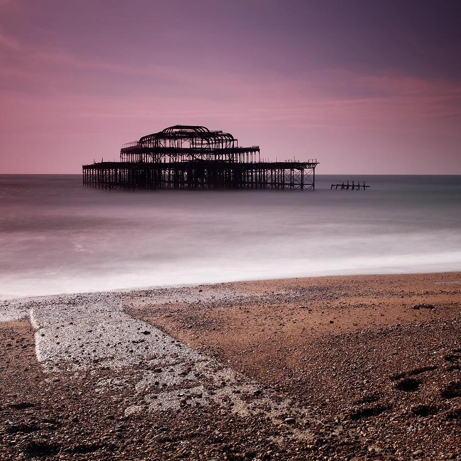 England Photograph - Old Brighton Pier by Nina Papiorek