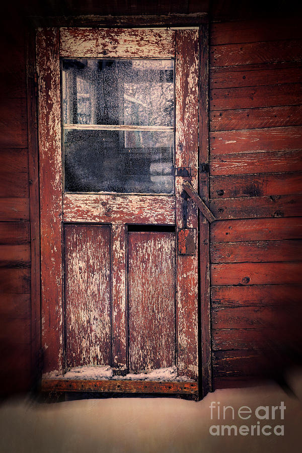 Atmosphere Photograph - Old Broken Door With The Word Kill In Window by Sandra Cunningham & Old Broken Door With The Word Kill In Window Photograph by Sandra ...