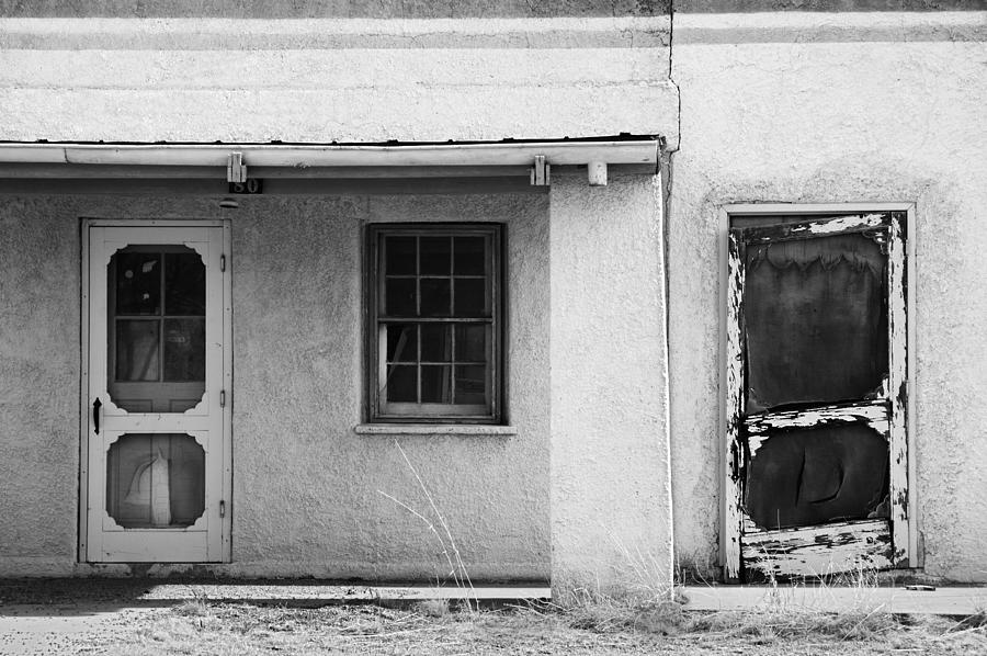 Black And White Photograph - Old Buiding Near Silver City by Bob Russman