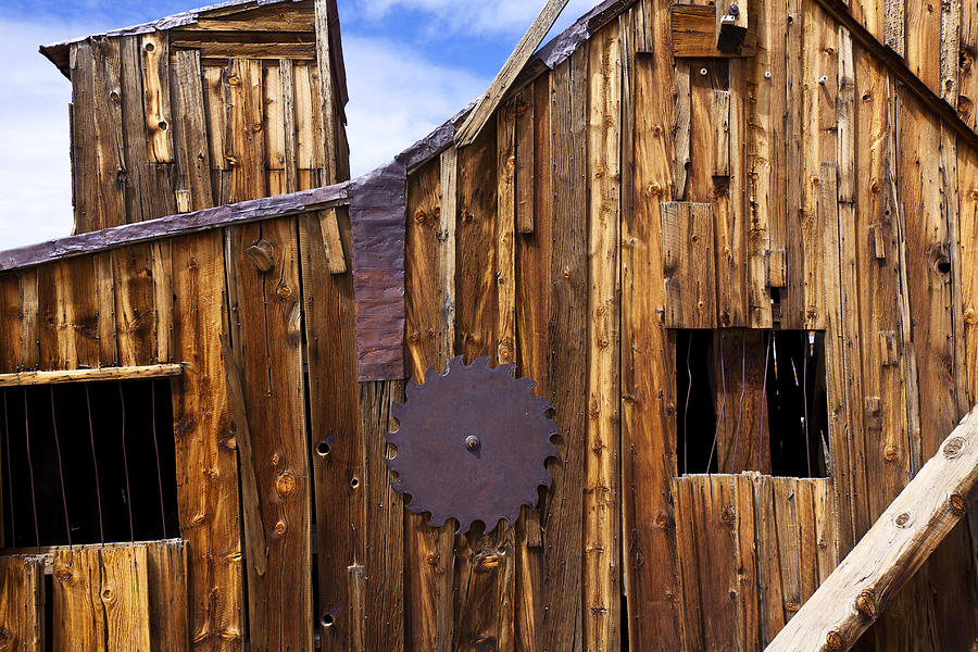 Wooden Photograph - Old Building Bodie Ghost Town by Garry Gay