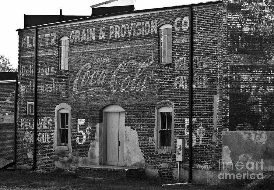 Brick Photograph - Old Building In Salisbury Nc by Wilma  Birdwell