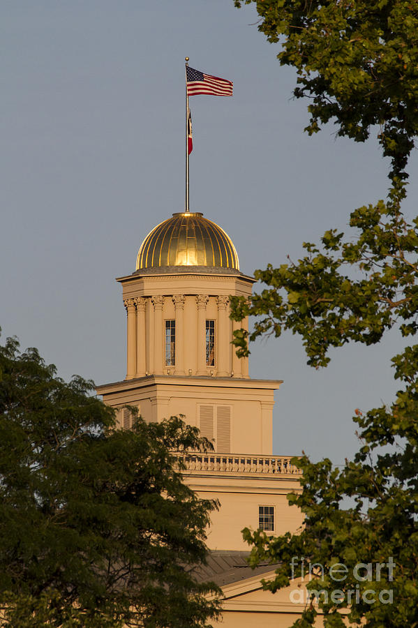 Iowa Photograph - Old Capitol by Diane Zumbach