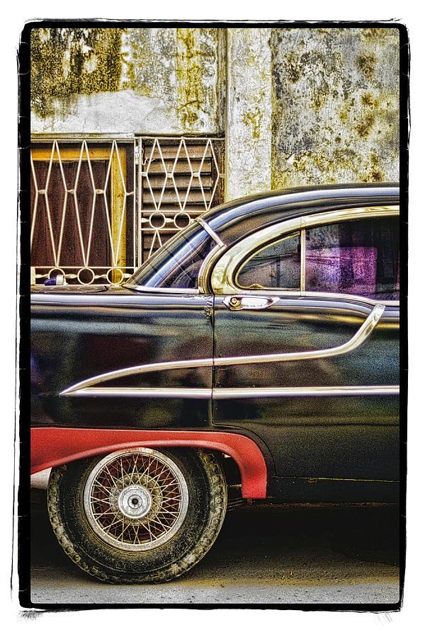 Framed Pyrography - Old Car 2 by Mauro Celotti