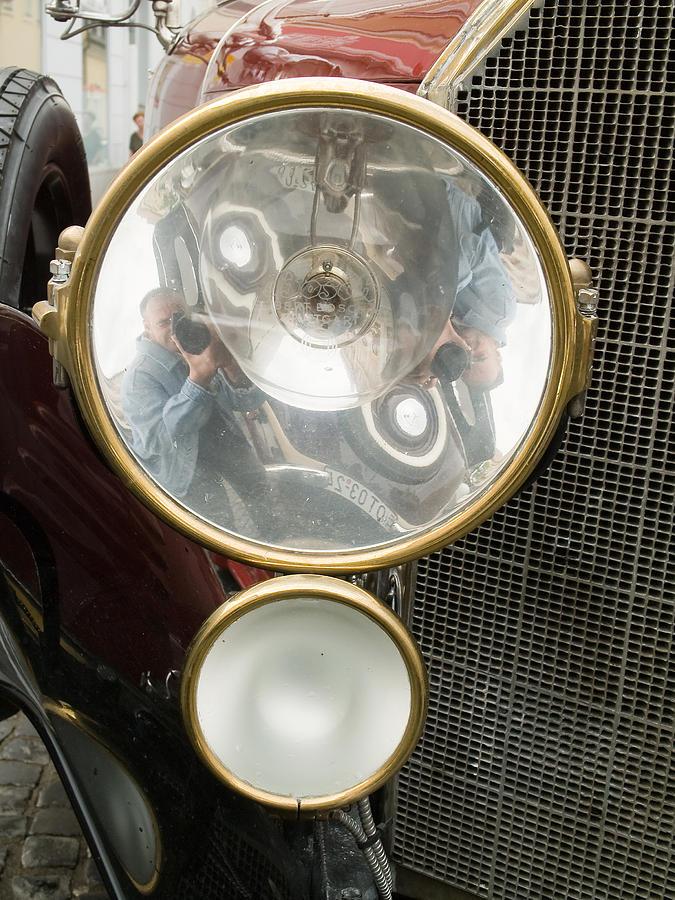 1200 Photograph - Old Car Lamp by Odon Czintos