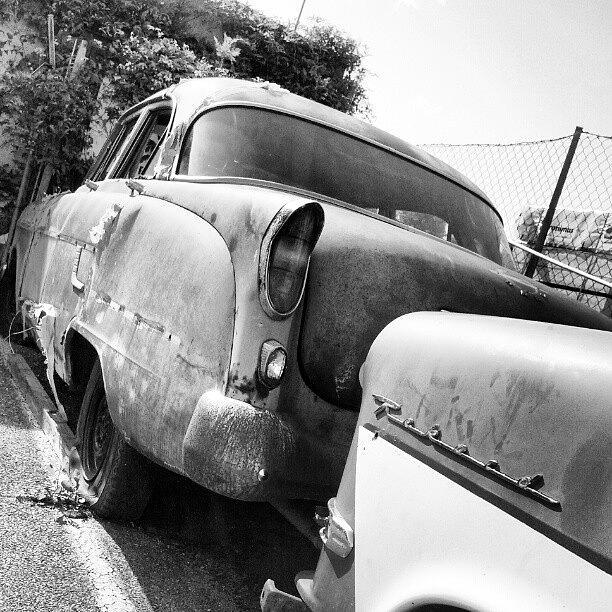 old car wrecks wreck oldtimer opel photograph by malte bauer. Black Bedroom Furniture Sets. Home Design Ideas