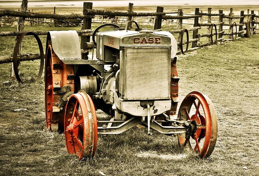 Case Tractor Posters : Old case tractor photograph by marilyn hunt