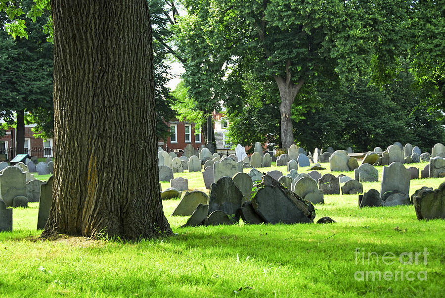 Old Photograph - Old Cemetery In Boston by Elena Elisseeva
