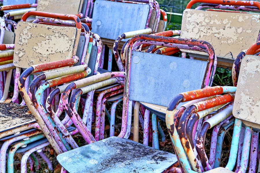 Chair Photograph - Old Chairs by Joana Kruse