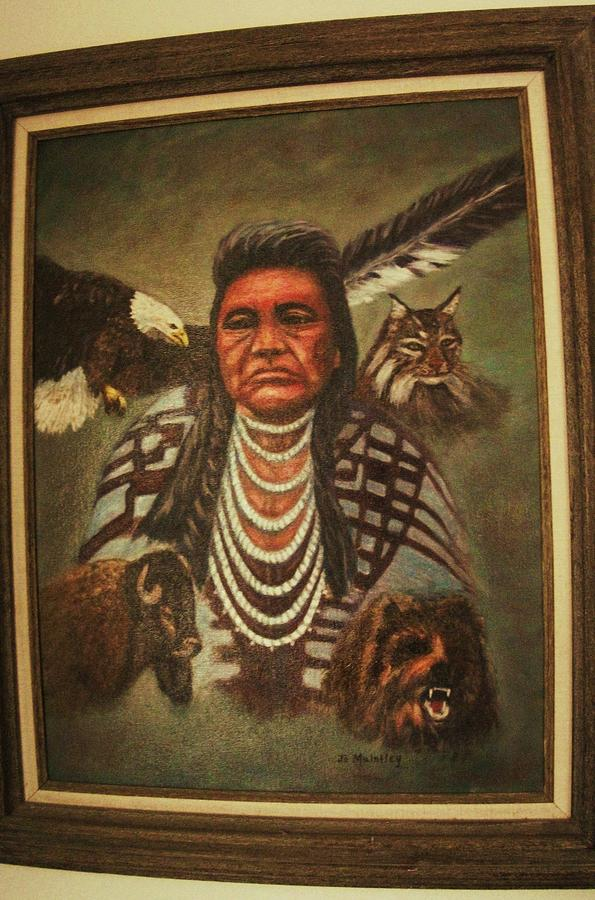 Old Chief Joseph Painting By Josephine Mulalley