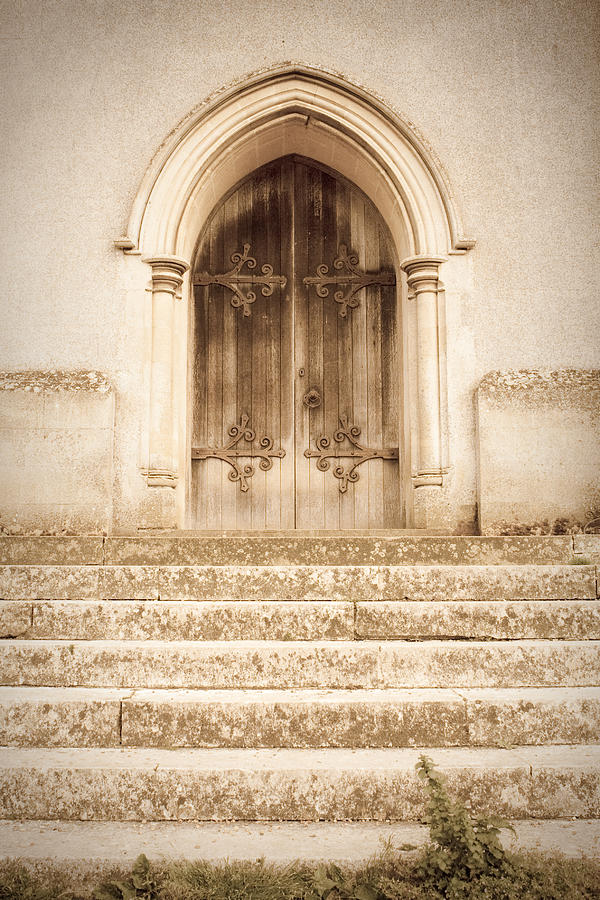 Admission Photograph - Old Church Door by Tom Gowanlock