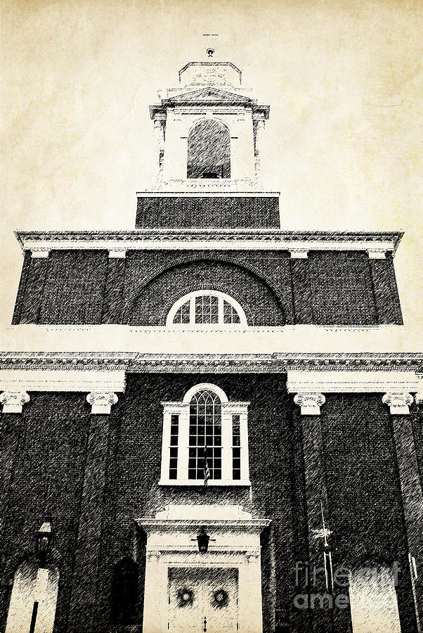 House Photograph - Old Church In Boston by Elena Elisseeva