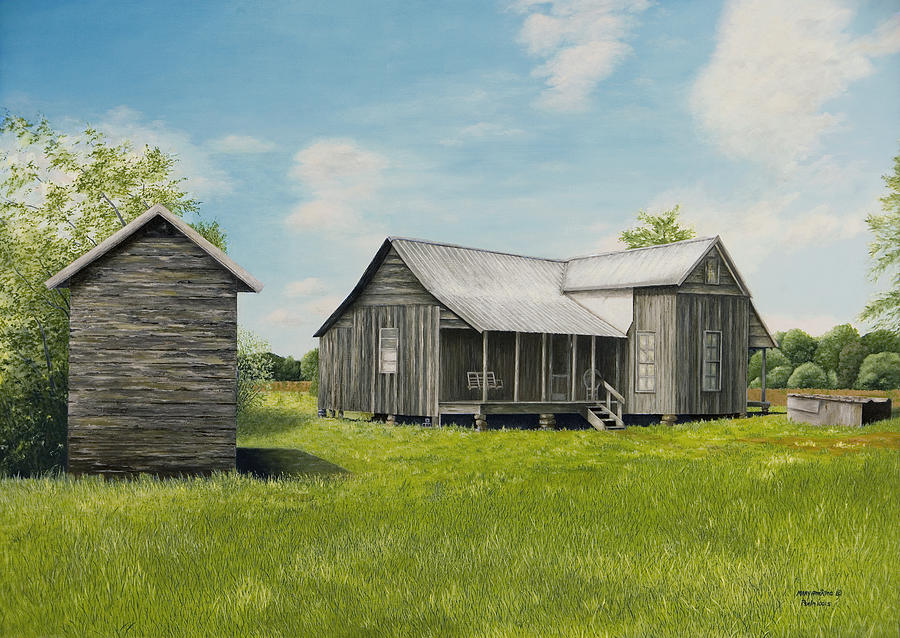 Mt. Vernon Painting - Old Clark Home by Mary Ann King