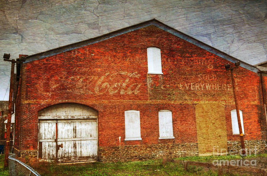 Old Photograph - Old Coca Cola Building by Paul Ward
