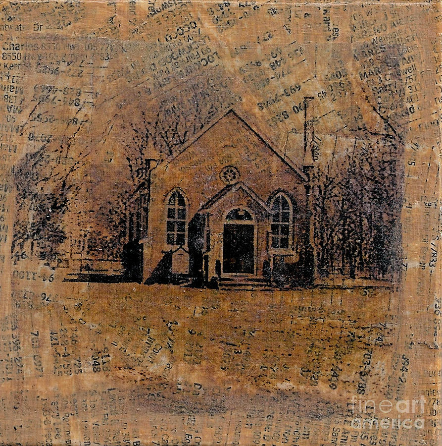 Old Country Church Mixed Media By Ruby Cross