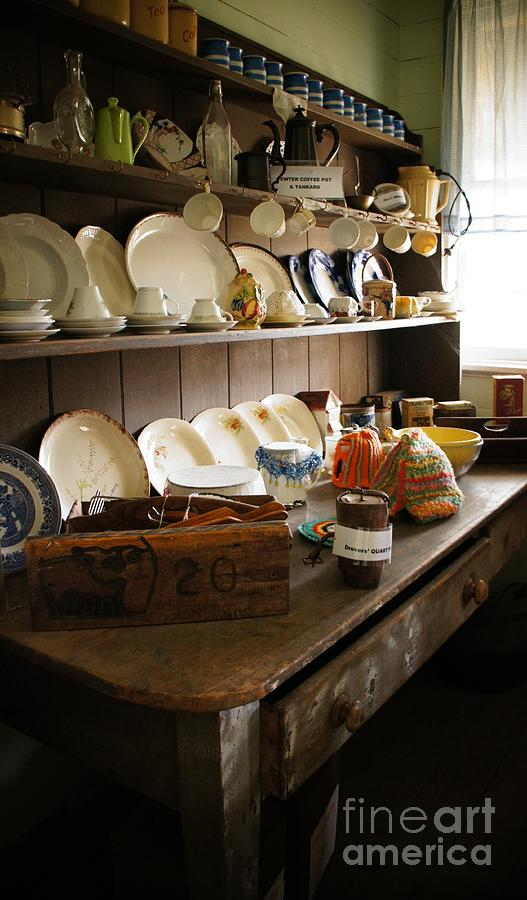 Dresser Photograph Old Country Kitchen By Therese Alcorn