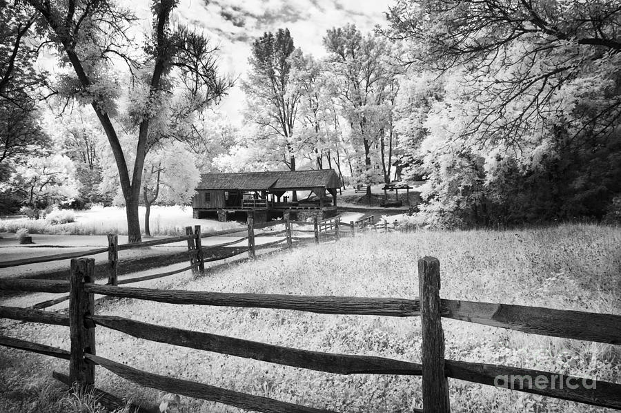 Infrared Photograph Old Country Saw Mill By Paul W Faust Impressions Of Light