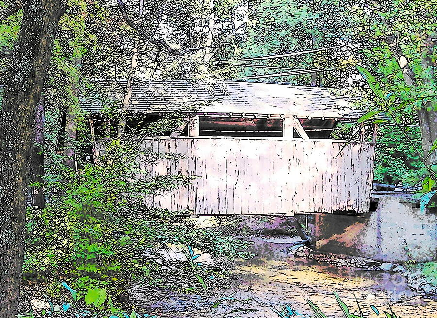 Covered Bridge Photograph - Old Covered Bridge by Nancy Patterson