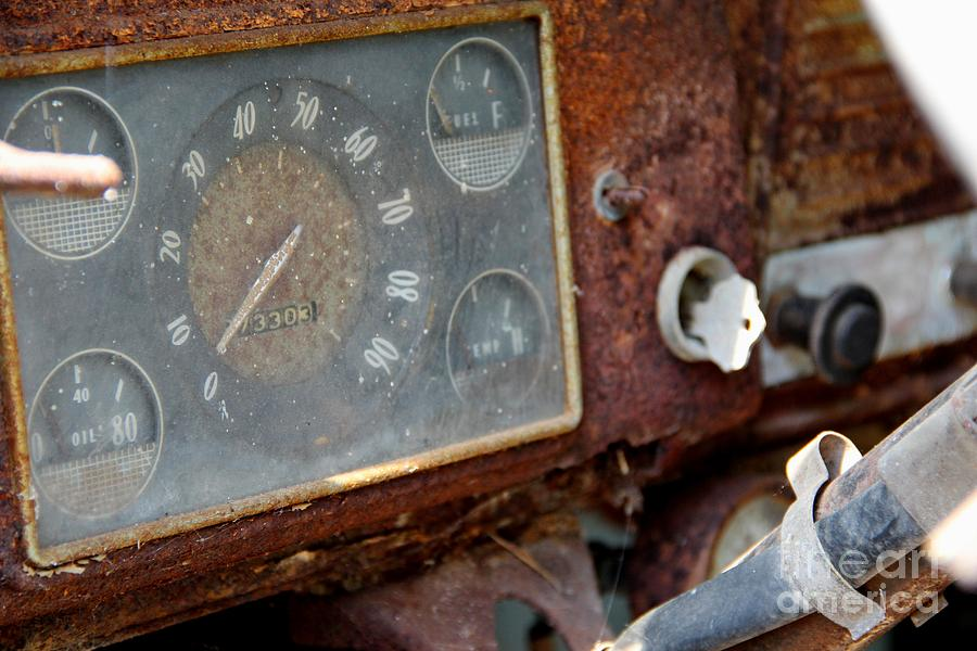 Dashboard Photograph - Old Dashboard by Pauline Ross