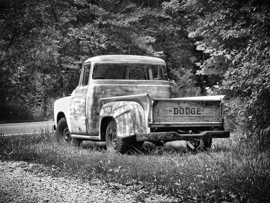 Old dodge truck photograph by brian mollenkopf for Old black and white photos for sale
