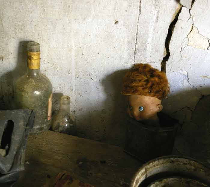 Doll Photograph - Old Doll In The Attic by Draia Coralia