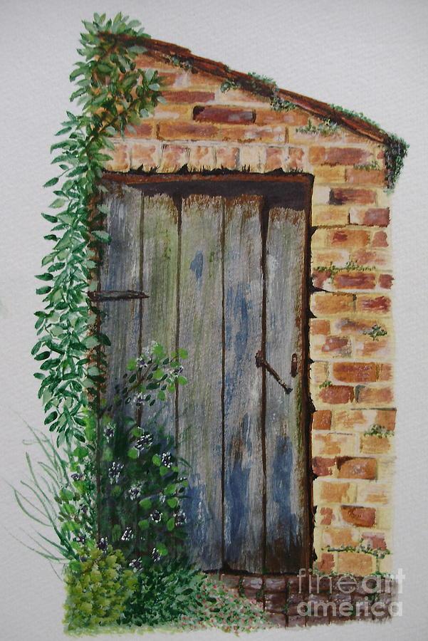Door Painting - Old Door by Kim Shayler & Old Door Painting by Kim Shayler pezcame.com