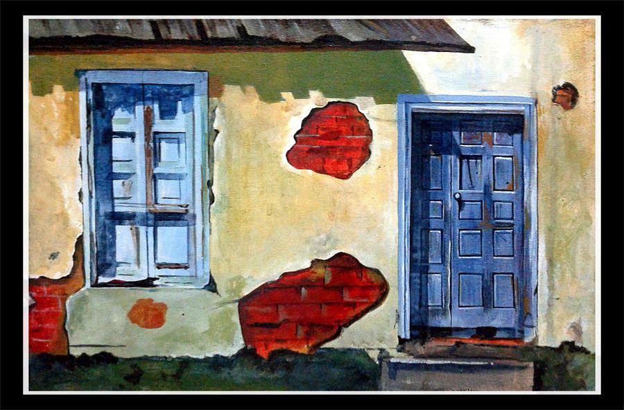 Old Door  Painting by Mahesh Mankar