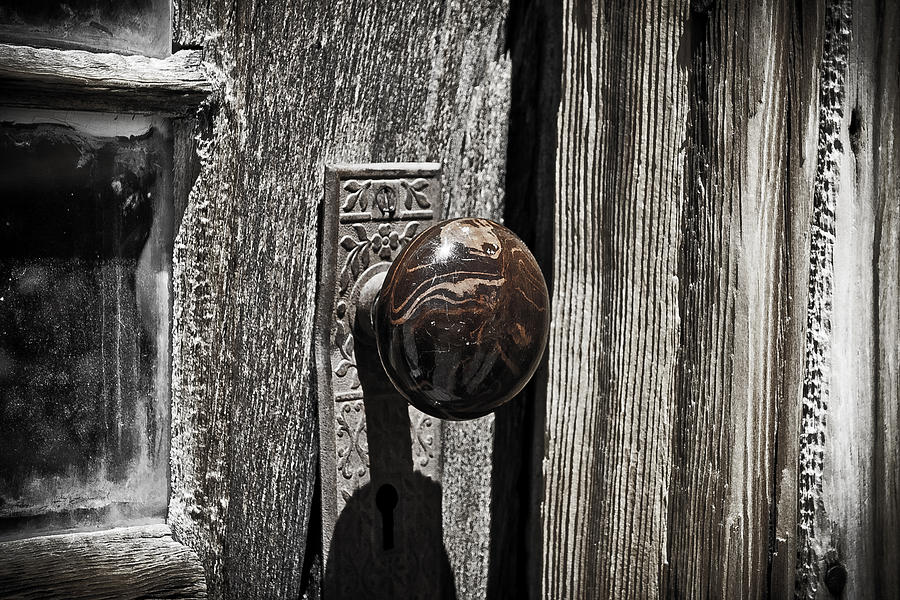 Bodie Photograph - Old Door Nob by Richard Balison