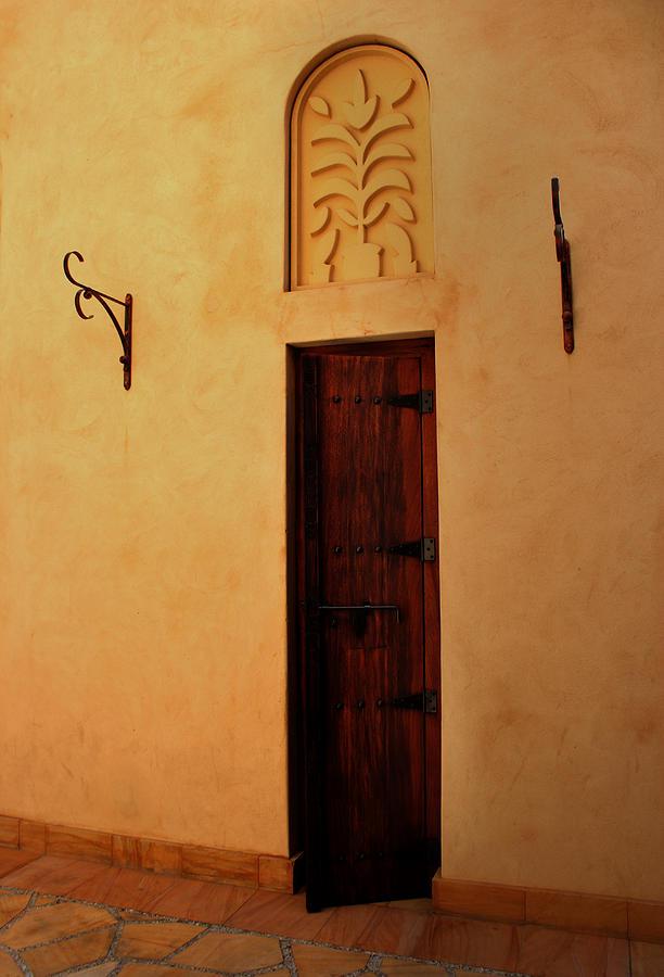 Entrance Photograph - Old Door by Radoslav Nedelchev
