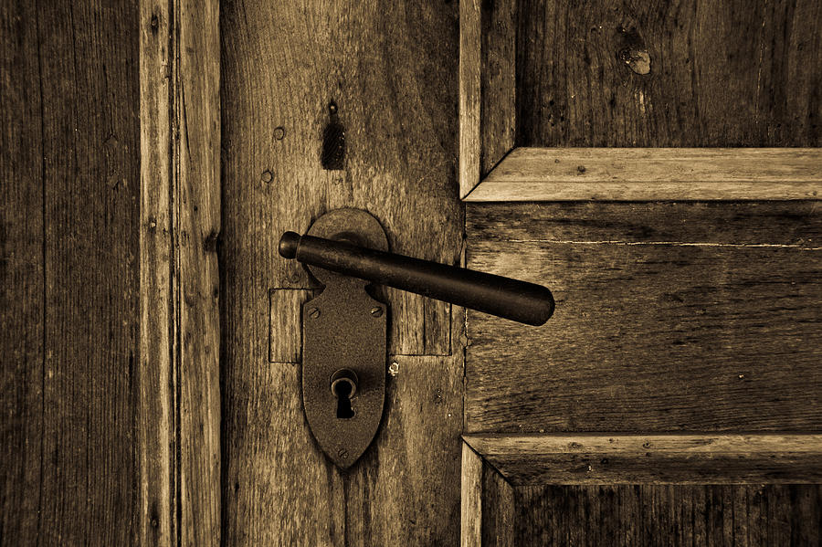 Old Photograph   Old Doorknob By Jennifer Stevens