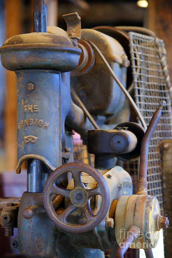 Warehouses Photograph - Old Drill Press by Randy Harris