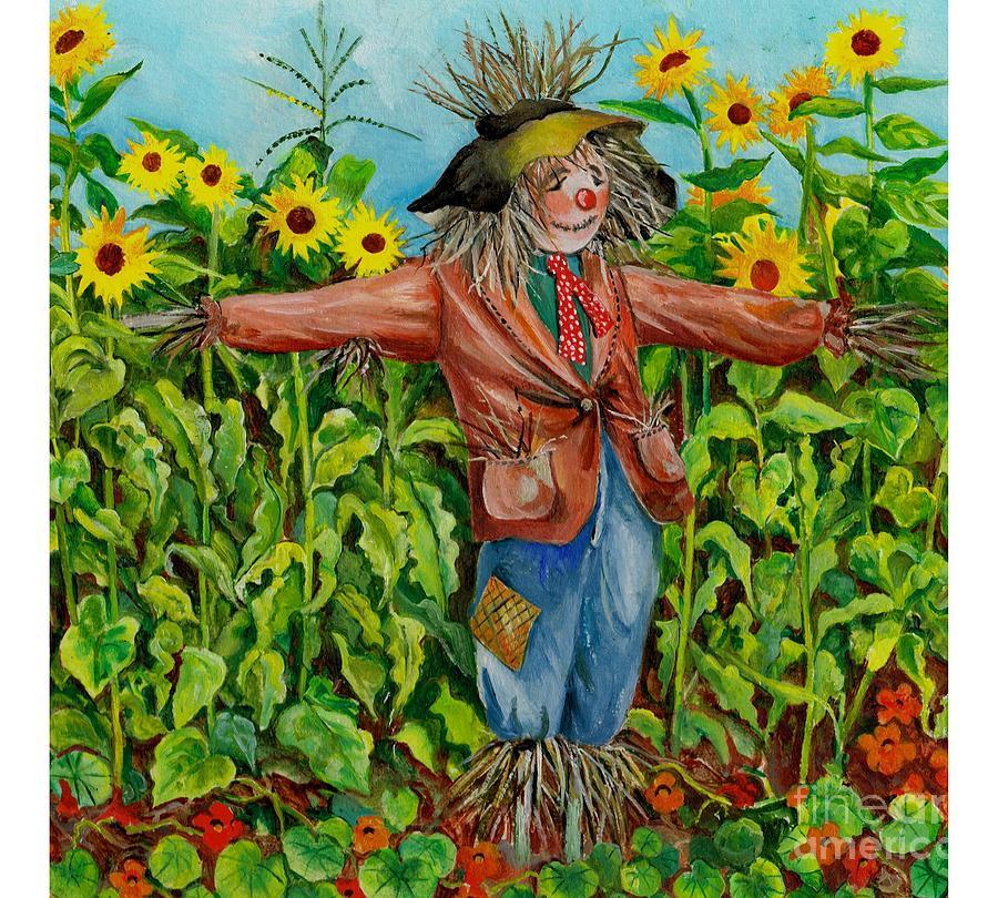 Картинка огород пугало